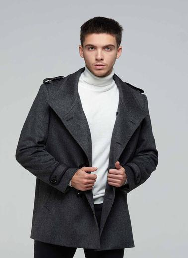 Silk and Cashmere Palto Gri